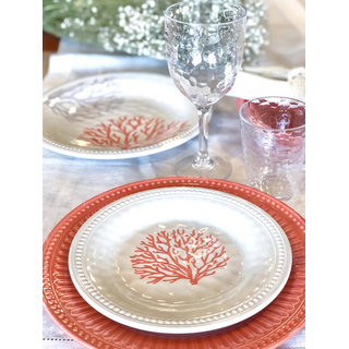 Dinner plate, large, flat, 27cm - Harmony Coral