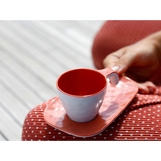 Espresso cup and saucer - Harmony Coral - Summer Edition