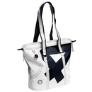 Sea Queen shopping bag, white black made of canvas