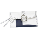 Sea wallet made of canvas white / navy blue