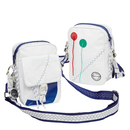 Sea Pearl shoulder bag white / navy blue made of canvas
