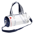 Sea Lady womens shoulder bag with leather, white / navy...