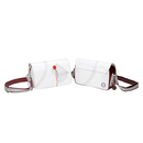 Sea Breeze shoulder bag compact, white / red, made of canvas