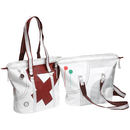 Sea Queen shopping bag, white / red made of canvas