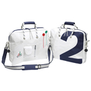 Sea Officer laptop bag, white / navy blue canvas