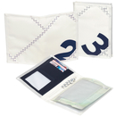 Sea License wallet, white / navy blue canvas