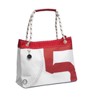 Sea Wave shopping bag with dew handle, white / red made...