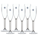 Sparkling wine glass set 6 pieces, unbreakable -...