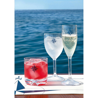 Apperitif glass set 6 pieces, unbreakable - Northwind Marine Business
