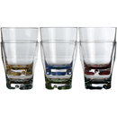 Water glass color base set 6 pieces, unbreakable,...