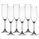 Champagne glass colorless set 6 pieces, unbreakable,...