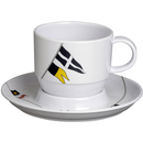 Teetasse mit Unterteller - Regatta, Marine Business