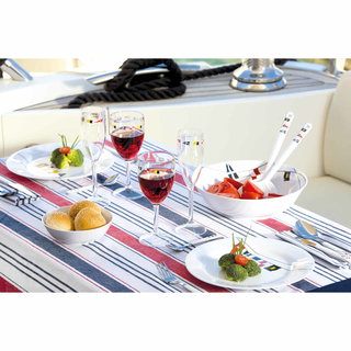 Dessertteller, 20cm, rund - Regatta, Marine Business - 6er Set