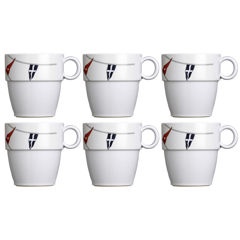 Kaffeebecher / Mug / Kaffee-Pott - Regatta, Marine Business - 6er Set