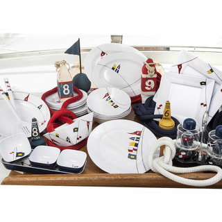 Teetasse mit Unterteller - Regatta, Marine Business 6er Set