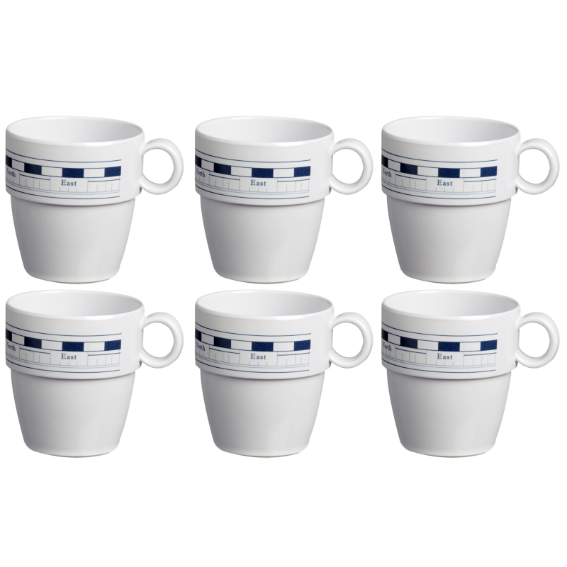 Kaffeebecher / Mug / Kaffee-Pott - Mistral, Marine Business 6er Set