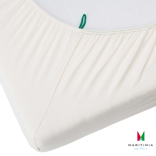 Yacht fitted sheet type A wool white for yachts and boats, narrow rectangular berth