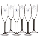 Sparkling wine champagne glass set 6 pieces, unbreakable...