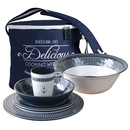 Crockery set Sailor Soul, 13 pieces, round, incl. Carrier...