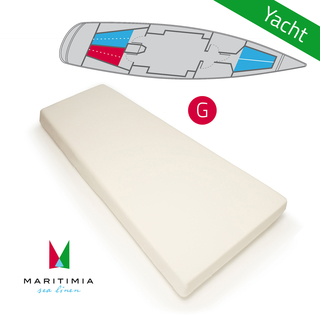 Yacht fitted sheet type G wool white for yachts and boats, starboard stern bunk trapeze