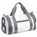 Travel bag recycled canvas pirate figure gray straps gray...