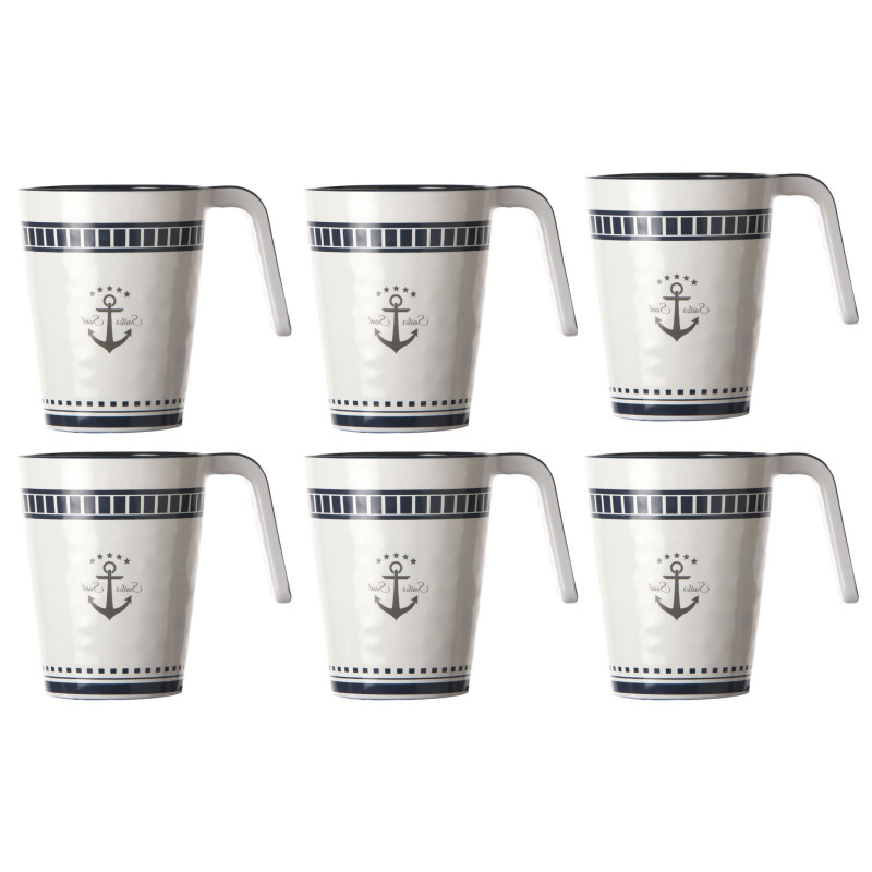 Kaffeebecher / Mug / Kaffee-Pott - Sailor Soul, Marine Business 6er Set