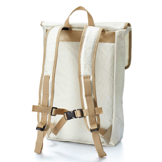 Backpack large recycled canvas shore leave sail number gray from 360 degrees