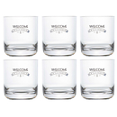 Water glass party - Welcome, set 6 pieces, unbreakable,...