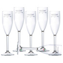 Champagne sparkling wine glass party - Welcome, set 6...