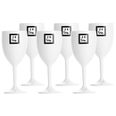 Wine glass set 6 pieces, unbreakable - Sea Lovers Marine...