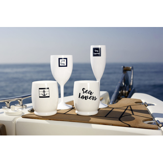 Water glass Letters set 6 pieces, unbreakable - Sea Lovers Marine Business
