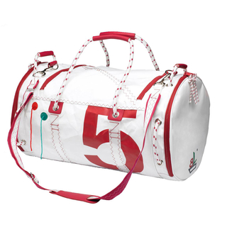 Sea Mate sailing bag white / red made of canvas