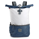 Backpack recycled canvas Pilot Navy White padded laptop...