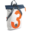 Backpack seagull recycled canvas white orange navy from...