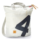 Backpack bag Ketch recycled canvas white gray from 360...