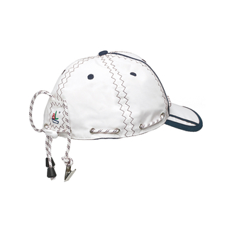 Sea Cap sailing with collar clip, unisize, unisex, white / navy blue by Trend Marine