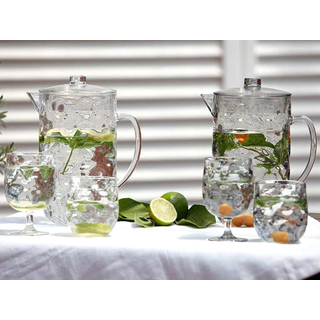 Water glass set 6 pieces, unbreakable - Harmony Moon Ice - Marine Business