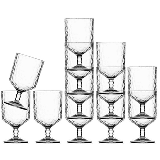 Wine glass set 12 pieces, stackable, unbreakable - Harmony Ice - Marine Business