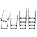 Water glass set 12 pieces, stackable, unbreakable -...