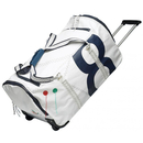 Sea Boy travel trolley made of canvas white / navy blue