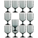 Wine glass set 12 pieces, stackable, unbreakable -...