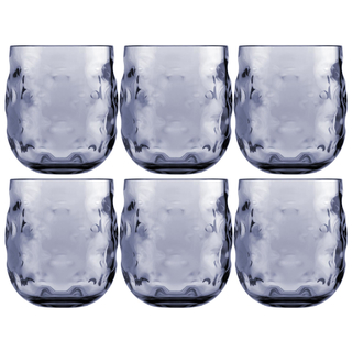 Water glass set 6 pieces, unbreakable - Harmony Moon Blue - Marine Business