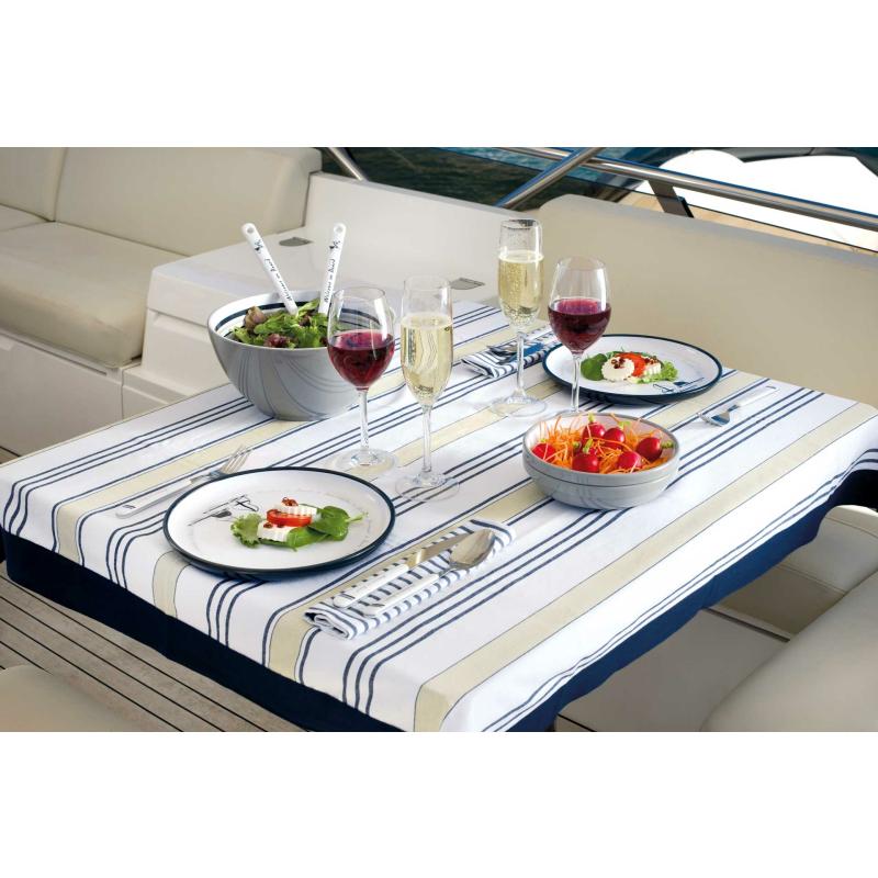 Salatschüssel mit Salatbesteck Welcome On Board Marine Business 25 cm