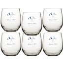 Water glass set 6 pieces, unbreakable - Welcome On Board...