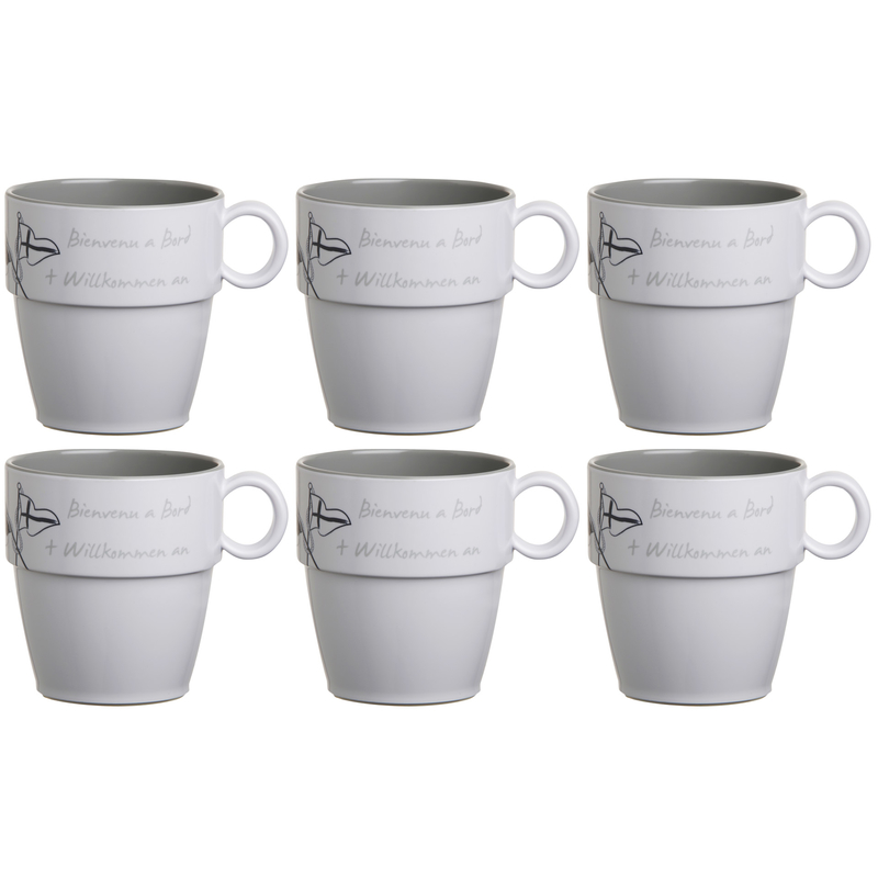 Kaffeebecher / Mug / Kaffee-Pott - Welcome On Board, Marine Business 6er Set