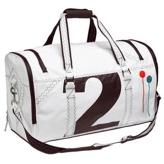 Sea Lord travel bag white / black made of canvas
