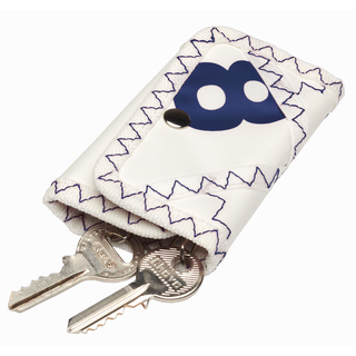 Sea Key Pouch White / Navy blue canvas key pouch