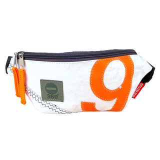 Belt Bag Bum Bag White Orange With Hueftgurt Made From Recycled Sailing Sheet