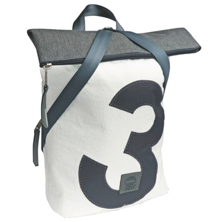 Backpack Seagull Recycled Canvas White Gray